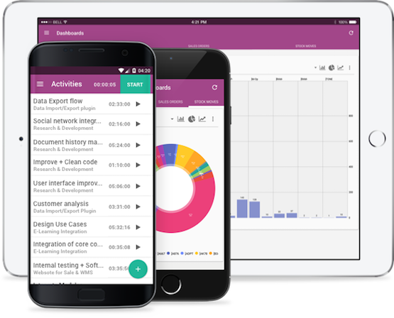 ERP Pour PME | Application mobile Odoo